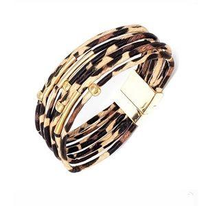 Leopard Magnetic Clasp Bracelet